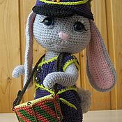Мягкие игрушки ручной работы. Ярмарка Мастеров - ручная работа Игрушки: Заяц с барабаном. Handmade.