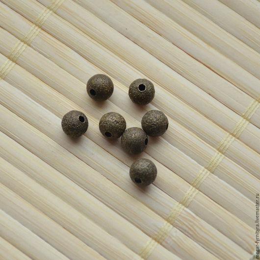 Для украшений ручной работы. Ярмарка Мастеров - ручная работа. Купить Бусина металлическая 6 мм. Handmade. Бронзовая бусина
