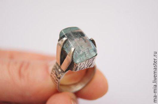 Кольца ручной работы. Ярмарка Мастеров - ручная работа. Купить кольцо Загадочное озеро. Аквамарин. Handmade. Голубой, аквамарин натуральный