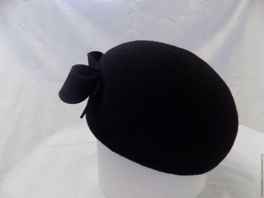 Шляпы ручной работы. Ярмарка Мастеров - ручная работа. Купить Фетровая шляпка. Handmade. Черный, беретка, модный берет