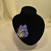 Украшения handmade. Livemaster - original item Brooch butterfly Summer evening. Handmade.