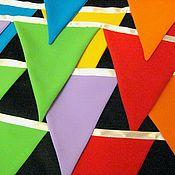 Для дома и интерьера handmade. Livemaster - original item Garlands made of cloth (flags). Handmade.