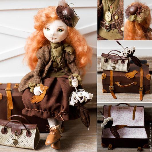 Коллекционные куклы ручной работы. Ярмарка Мастеров - ручная работа. Купить Большое путешествие. Авторская кукла. Handmade. Коричневый