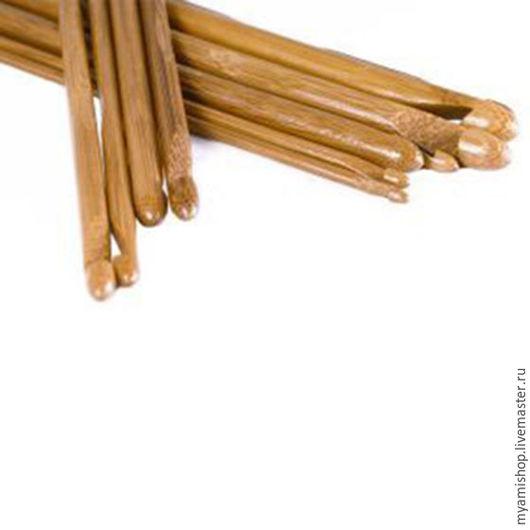 Вязание ручной работы. Ярмарка Мастеров - ручная работа. Купить Бамбуковый крючок. Handmade. Коричневый, бамбуковый крючок, для вязания, крючок