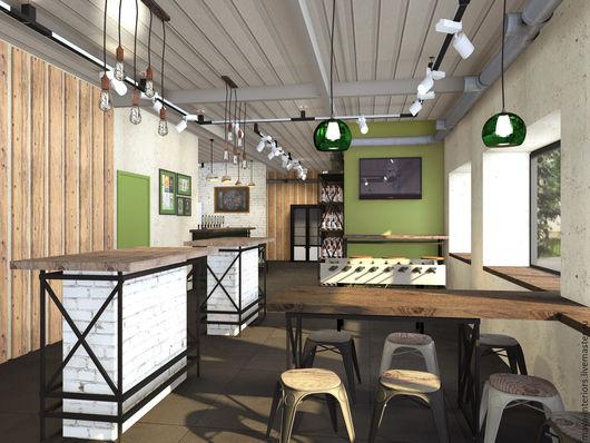 Дизайн интерьеров ручной работы. Ярмарка Мастеров - ручная работа. Купить Магазин-бар пива. Handmade. Интерьер, дизайнер, зеленый