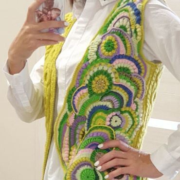 Одежда ручной работы. Ярмарка Мастеров - ручная работа Жилеты: Летнее настроение. Handmade.