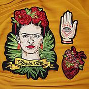 Аксессуары для вышивки ручной работы. Ярмарка Мастеров - ручная работа Нашивка на одежду набор Фрида Кало. Handmade.