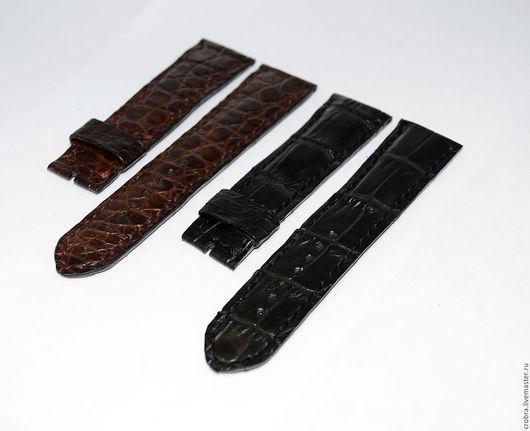Часы ручной работы. Ярмарка Мастеров - ручная работа. Купить Классический часовой браслет с утолщением и без. Handmade. Черный