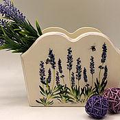 Для дома и интерьера handmade. Livemaster - original item Box Lavender mood decoupage. Handmade.