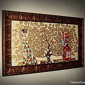 """Картины и панно ручной работы. Ярмарка Мастеров - ручная работа Картина по мотивам Г.Климта """"Древо жизни"""". Handmade."""