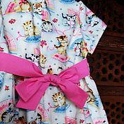 Платье ручной работы. Ярмарка Мастеров - ручная работа Платье для девочки КОТИКИ. Американский хлопок. Handmade.