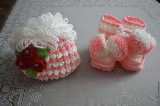 Одежда для девочек, ручной работы. Ярмарка Мастеров - ручная работа. Купить Вязание. Handmade. Комбинированный, вязание для детей, пинетки вязаные