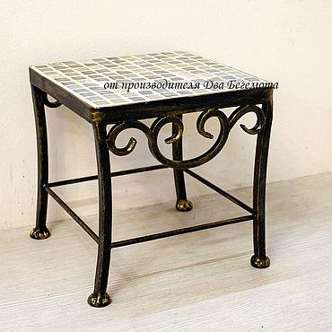 Мебель ручной работы. Ярмарка Мастеров - ручная работа Табурет с мозаикой №2. Handmade.