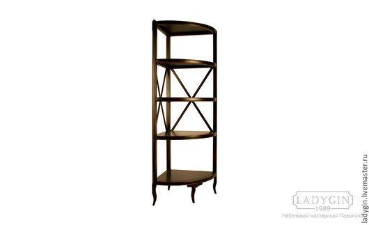 Деревянная угловая высокая этажерка прованс от Ladygin