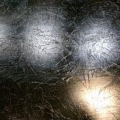 Дизайн и реклама ручной работы. Ярмарка Мастеров - ручная работа Декор фасадов кухни серебряной поталью в два слоя в СПб Питер. Handmade.