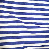 Материалы для творчества ручной работы. Ярмарка Мастеров - ручная работа Кулирная гладь Тельняшка синяя. Handmade.