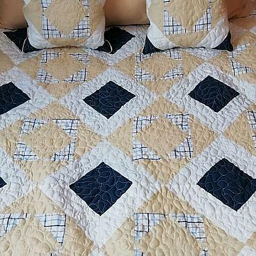 Для дома и интерьера ручной работы. Ярмарка Мастеров - ручная работа Набор(покрывало-одеяло и две подушки). Handmade.