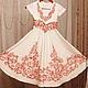 Одежда для девочек, ручной работы. Ярмарка Мастеров - ручная работа. Купить Детское платье для венчания мамы. Handmade. Белый, лён