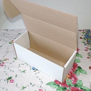 Материалы для творчества ручной работы. Ярмарка Мастеров - ручная работа Коробка микрогофрокартон. Handmade.