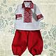 Льняной костюм с ручной вышивкой Козачок. \r\nМодная одежда с ручной вышивкой. \r\nТворческое ателье Modne-Narodne.