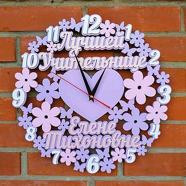 Для дома и интерьера ручной работы. Ярмарка Мастеров - ручная работа Часы учителю. Handmade.