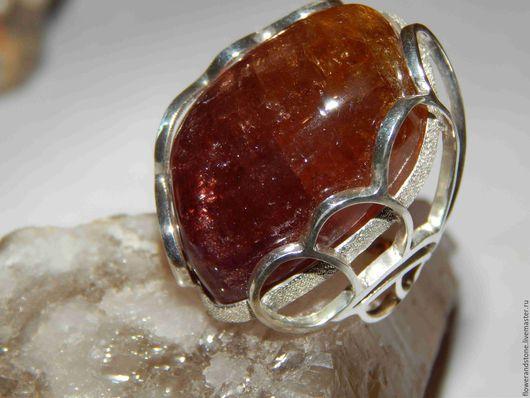 Кольца ручной работы. Ярмарка Мастеров - ручная работа. Купить Камень турмалин-мармеладка. Handmade. Комбинированный, двухцветный