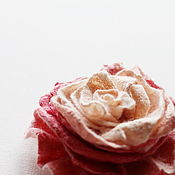 Украшения handmade. Livemaster - original item Felted rose