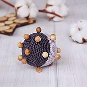 Teethers, rattles handmade. Livemaster - original item Educational toy-rattle tactile ball, two tone. Handmade.