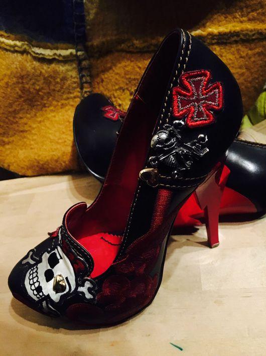 Обувь ручной работы. Ярмарка Мастеров - ручная работа. Купить Туфли в винтажном стиле. Handmade. Туфли женские, кожа натуральная