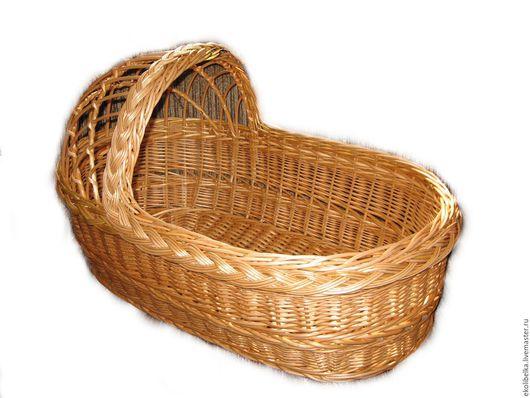 Для новорожденных, ручной работы. Ярмарка Мастеров - ручная работа. Купить Люлька колыбель плетеная из натуральной лозы, зыбка. Handmade.