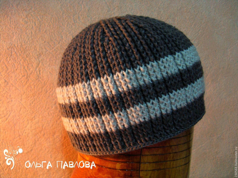 Видеоуроки вязание мужских шапок 77