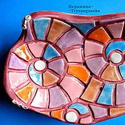 Для дома и интерьера ручной работы. Ярмарка Мастеров - ручная работа Керамическая мыльница на ножках Мозаика. Handmade.