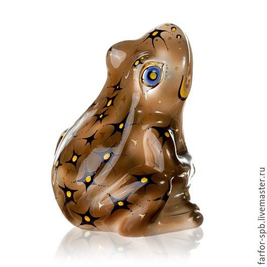 Статуэтки ручной работы. Ярмарка Мастеров - ручная работа. Купить лягушка фарфор. Handmade. Разноцветный, фигурки из глины, подарки