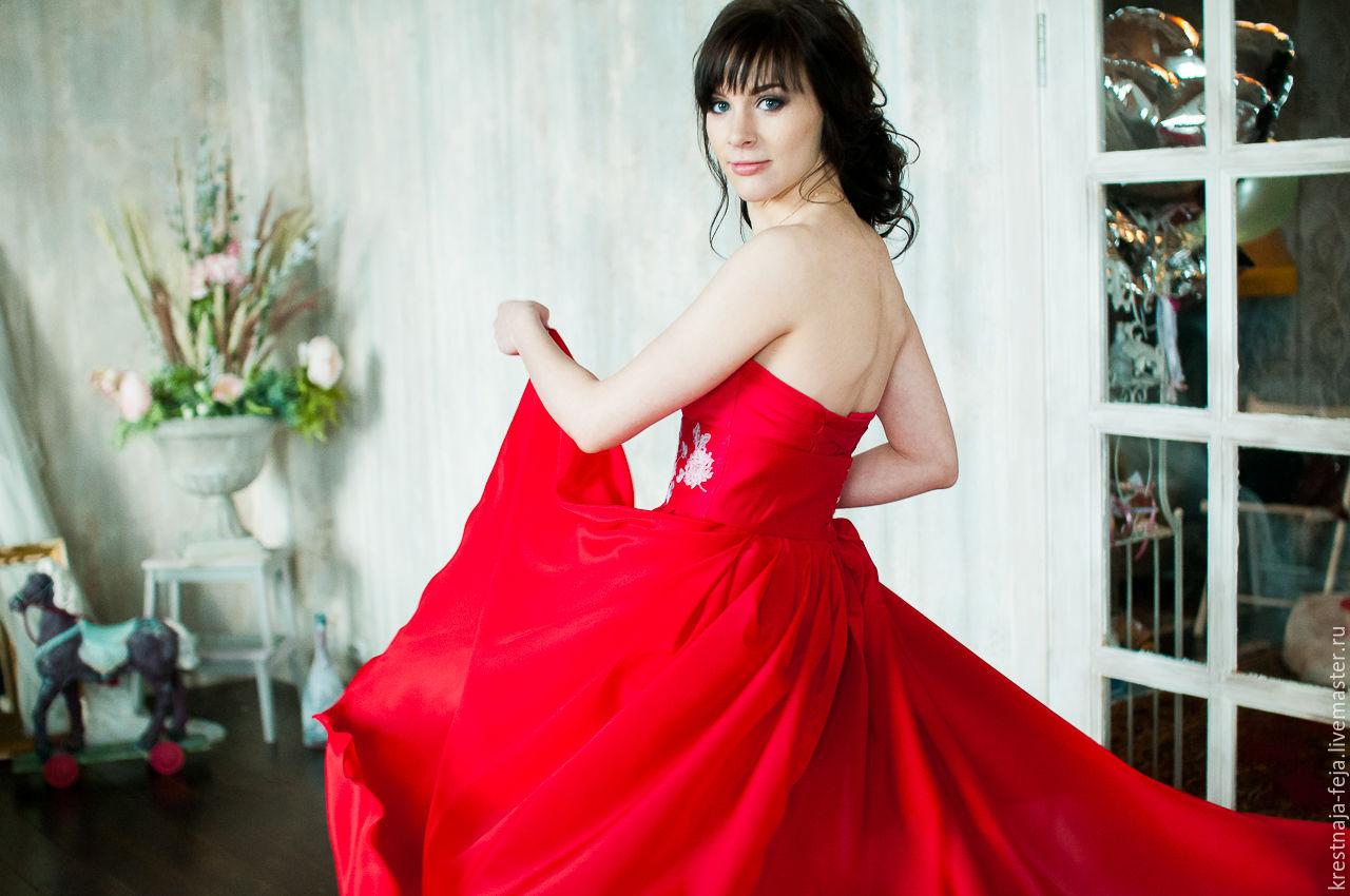 9c15cc978a3 Платья ручной работы. Ярмарка Мастеров - ручная работа. Купить Вечернее  красное платье-трансформер ...