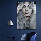 Картины ручной работы. Ярмарка Мастеров - ручная работа Портрет по фото цифровая живопись холст картина девушка диджитал. Handmade.