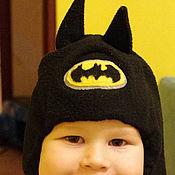 Работы для детей, ручной работы. Ярмарка Мастеров - ручная работа Шапка-шлем Бэтмен. Handmade.