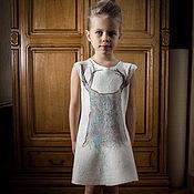"""Работы для детей, ручной работы. Ярмарка Мастеров - ручная работа Белое платье """"Олень или дерево?"""". Handmade."""
