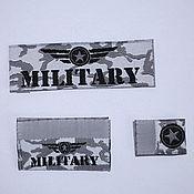 Дизайн и реклама ручной работы. Ярмарка Мастеров - ручная работа Этикетки жаккардовые Military 60 шт. Handmade.