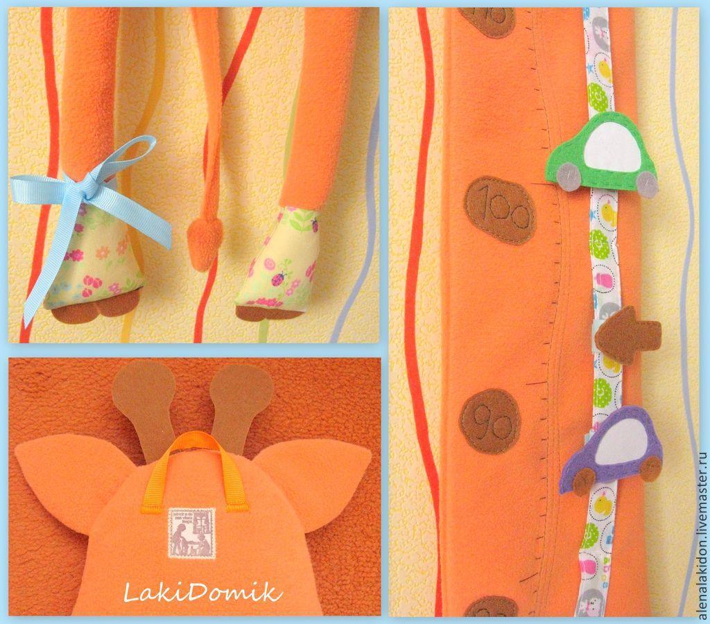 Nursery handmade. Livemaster - handmade. Buy Height Chart Giraffe.Toy, child, height chart, fleece