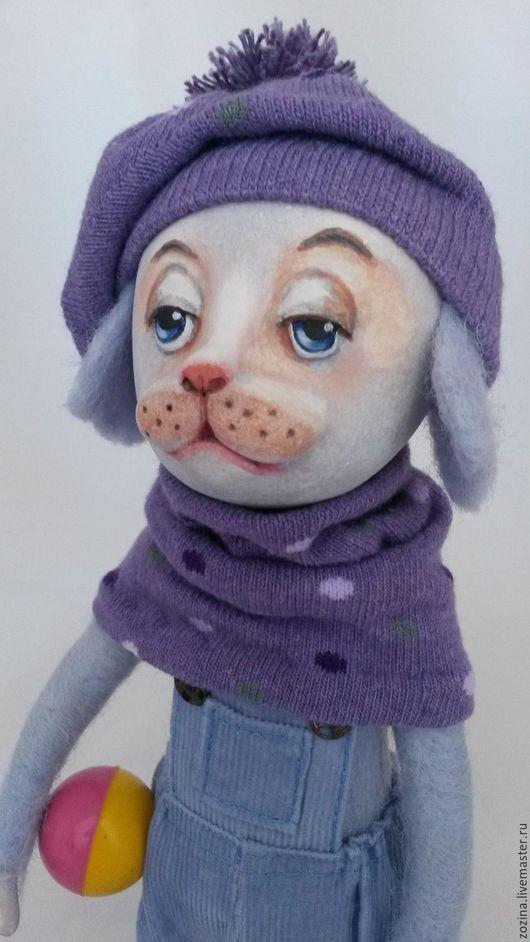 Коллекционные куклы ручной работы. Ярмарка Мастеров - ручная работа. Купить Песик ЛЕО. Handmade. Авторская кукла, кукла, клоуны