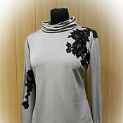 Одежда handmade. Livemaster - original item New - beige Turtleneck with lurex and lace. Handmade.