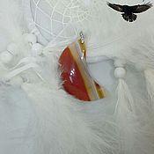 """Оберег ручной работы. Ярмарка Мастеров - ручная работа Талисман """"Луна"""" на агате. Handmade."""