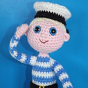 Куклы и игрушки ручной работы. Ярмарка Мастеров - ручная работа Кукла Моряк. вязаные игрушки. Handmade.