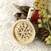 Русский стиль handmade. Livemaster - original item Shield of Perun Slavic talismans,amulets,bronze,copper, silver. Handmade.