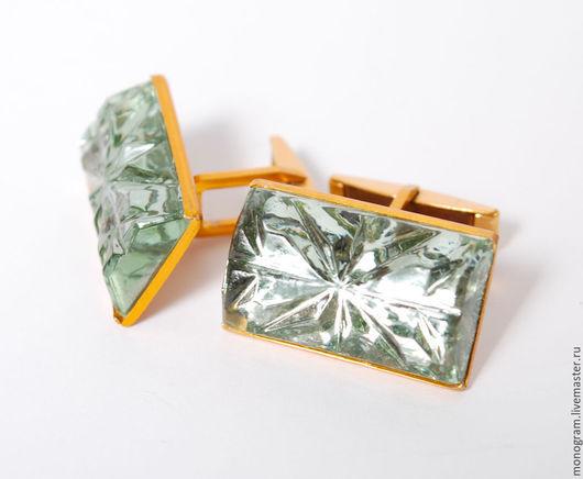 Винтажные украшения. Ярмарка Мастеров - ручная работа. Купить Запонки винтаж, цветное стекло, алюминий СССР, для мужчин. Handmade. Металл