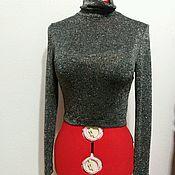 Одежда ручной работы. Ярмарка Мастеров - ручная работа Гольф с люрексом, водолазка, бадлон. Handmade.
