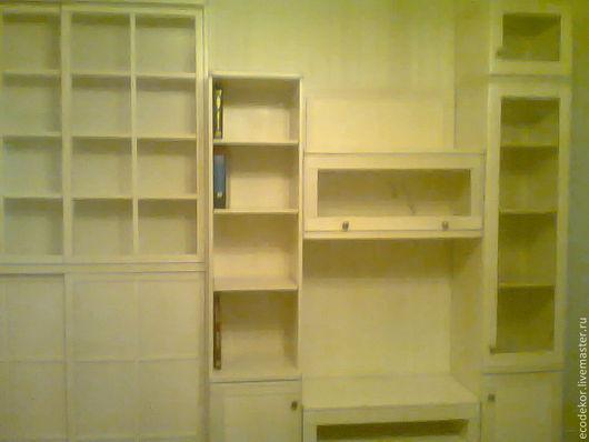 Мебель ручной работы. Ярмарка Мастеров - ручная работа. Купить Гостиная в белом. Handmade. Белый, мебель на заказ, книжная полка