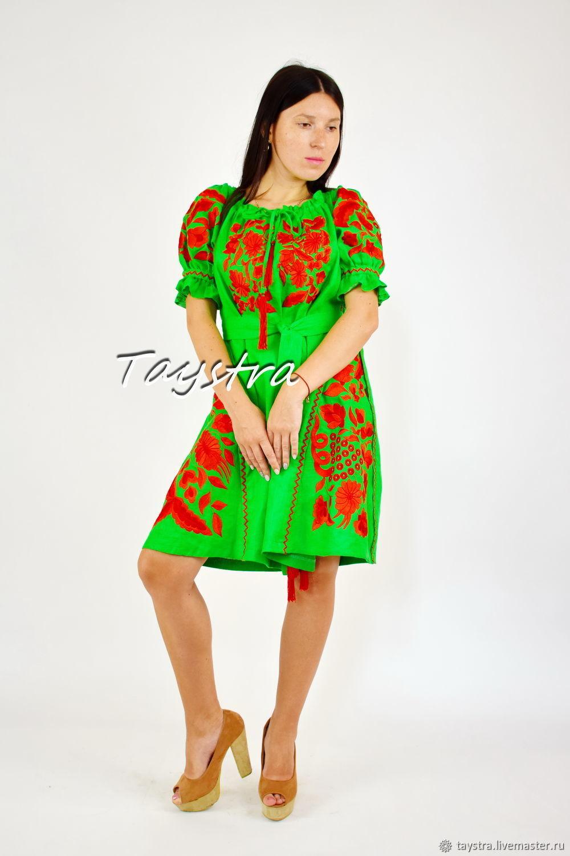 99811e542d2 Beach dresses handmade. Livemaster - handmade. Buy Embroidered Dress  Vyshyvanka Dress
