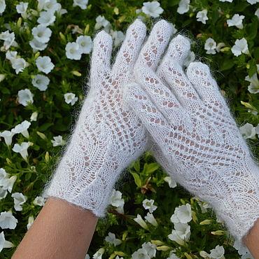 Accessories handmade. Livemaster - original item feather gloves. Handmade.