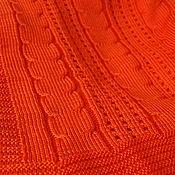 """Для дома и интерьера ручной работы. Ярмарка Мастеров - ручная работа Плед вязаный """"Оранжевое счастье"""". Handmade."""